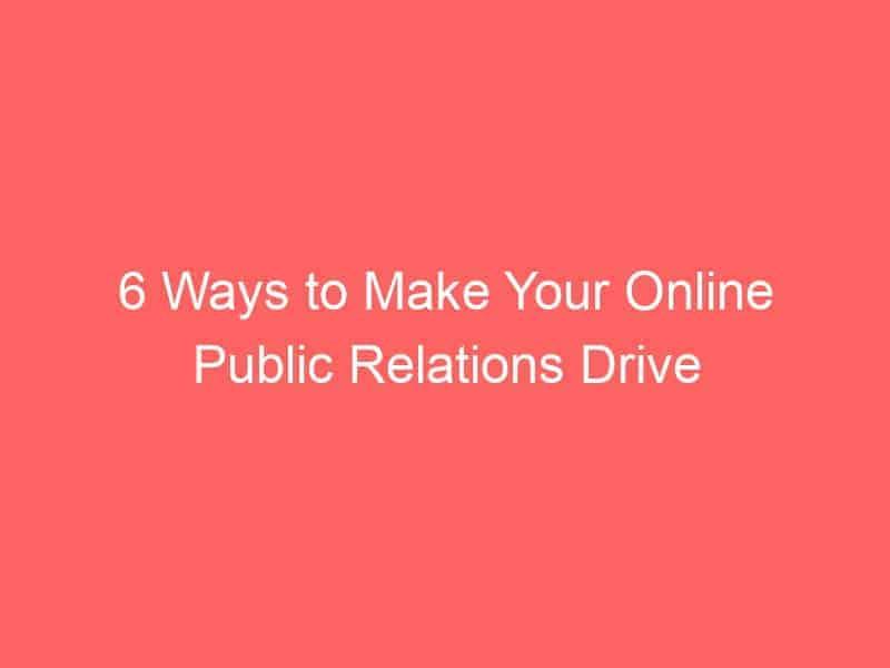 6 ways to make your online public relations drive seo 3057 seo sri lanka